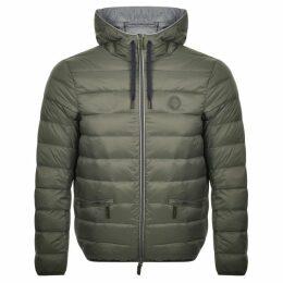 Armani Exchange Hooded Down Jacket Green