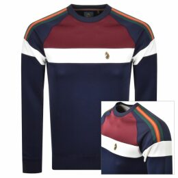 Luke 1977 Adam 2 Colour Block Sweatshirt Navy
