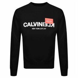 Calvin Klein Reverse Logo Sweatshirt Black
