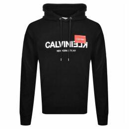 Calvin Klein Reverse Logo Hoodie Black