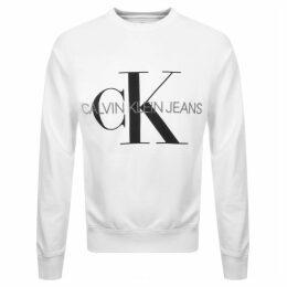 Calvin Klein Jeans Monogram Logo Sweatshirt White