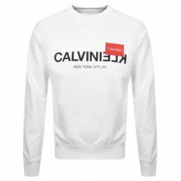 Calvin Klein Reverse Logo Sweatshirt White