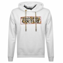 Versace Jeans Couture Logo Hoodie White