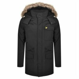Lyle And Scott Hooded Microfleece Jacket Black