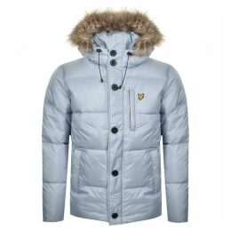 Lyle And Scott Hooded Puffer Bomber Jacket Blue