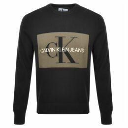 Calvin Klein Jeans Monogram Sweatshirt Black