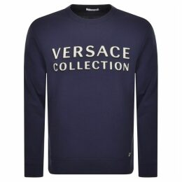 Versace Collection Crew Neck Sweatshirt Blue