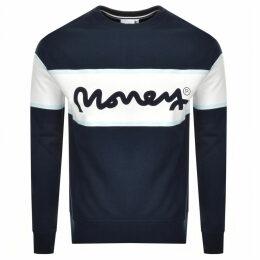 Money College Stripe Logo Sweatshirt Navy