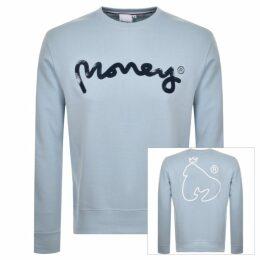 Money Pastel Sig Ape Logo Sweatshirt Blue