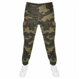 Levis Camouflage Tapered Cargo Trousers Khaki