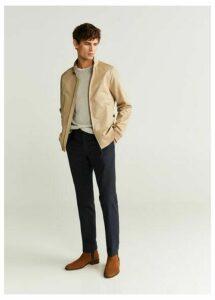 Biker-style cotton jacket
