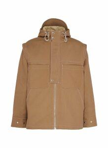 'La veste Meunier' contrast topstitching hooded jacket