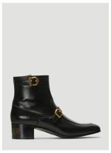 Gucci Sucker Leather Boots in Black size UK - 10