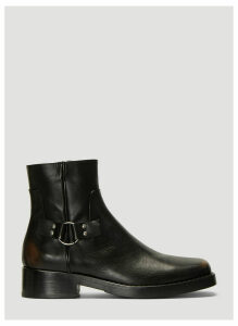 Raf Simons Buckle Ankle Boots in Black size EU - 44