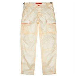 Heron Preston Cream Shell Cargo Trousers