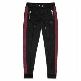 True Religion Black Striped Cotton-blend Sweatpants