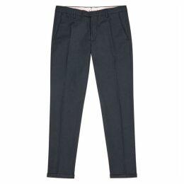 NN07 Scott Navy Stretch-cotton Chinos