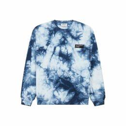Acne Studios Forba Blue Tie-dye Cotton Sweatshirt