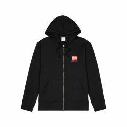 Calvin Klein Black Hooded Stretch-cotton Jacket