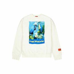 Heron Preston White Printed Cotton Sweatshirt