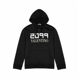 Valentino Black Printed Cotton-blend Sweatshirt