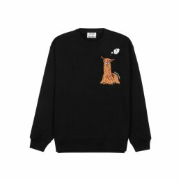 Acne Studios Llama-embroidered Cotton Sweatshirt