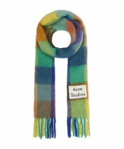Valley Check Wool-Blend Scarf