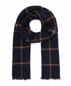 Windowpane Cashmere Scarf