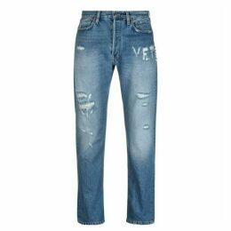 Vetements F Up Logo Jeans