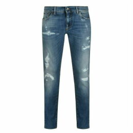 Dolce and Gabbana Gothic Distressed Jeans