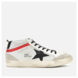 Golden Goose Deluxe Brand Men's Mid Star Leather Trainers - Ice/Black Star