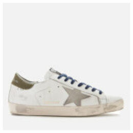 Golden Goose Deluxe Brand Men's Superstar Leather Trainers - White/Golden Goose Footsteps