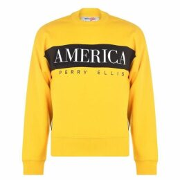 Perry Ellis Panel Sweatshirt