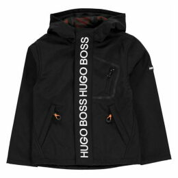 Boss Logo Zip Parka Jacket