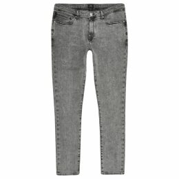 Mens River Island Grey Danny super skinny jeans