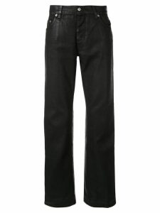 Helmut Lang Pre-Owned 2000's leather effect straight trousers - Black