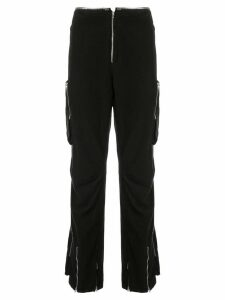 Helmut Lang Pre-Owned 1999 zippers cargo trousers - Black