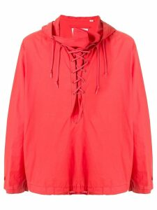 Helmut Lang Pre-Owned 2000's Military hoodie - Red