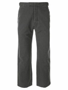 Helmut Lang Pre-Owned 1990's straight cropped trousers - Grey