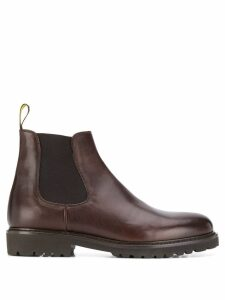 Doucal's elasticated chelsea boots - Brown
