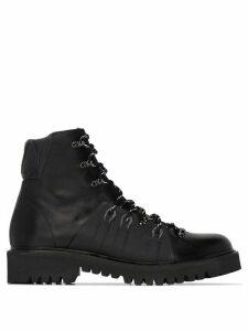 Valentino logo-appliqued hiking boots - Black