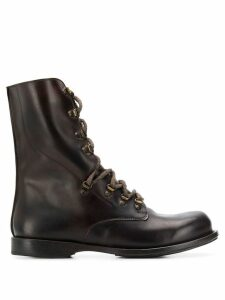 Cherevichkiotvichki lace-up combat boots - Brown