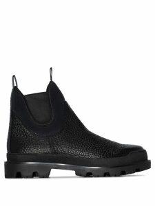 Prada ridged sole Chelsea boots - Black