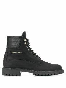 Philipp Plein lace up boots - Black