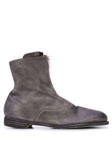 Guidi zipped ankle boots - Grey