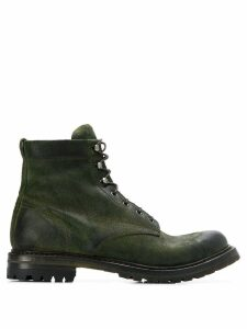 Silvano Sassetti lace up combat boots - Green