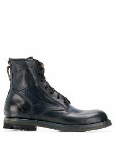 Silvano Sassetti combat ankle boots - Blue