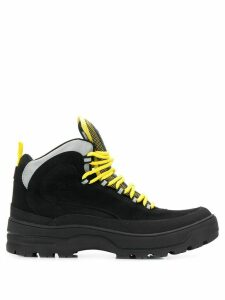 Tommy Jeans colour block expedition boots - Black