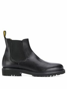 Doucal's elasticated chelsea boots - Black