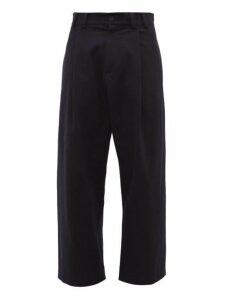 Studio Nicholson - Bushel Twill Wide Leg Trousers - Mens - Navy